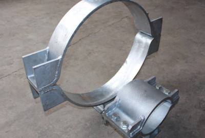 PIPE SUPPORTS FOR INDUSTRIAL PLANTS, HOT DIP GALVANISED